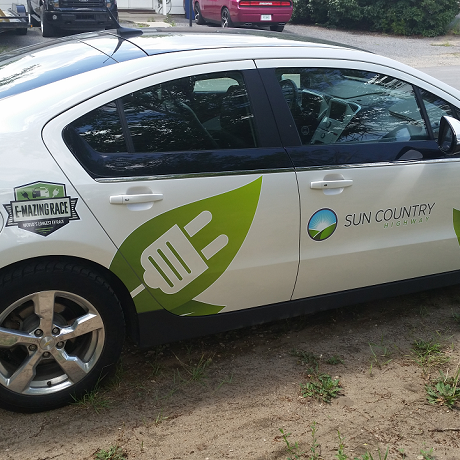 A company vehicle is a great spot for branding.