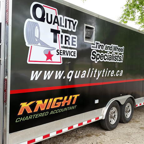 Your work or storage trailer can carry your brand.